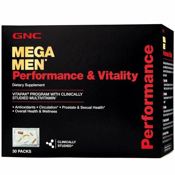 GNC Mega Men Performance & Vitality Vitapak Free Shipping