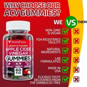 (2 Pack) Apple Cider Vinegar Gummies for Immune Support,Detox NEW 1