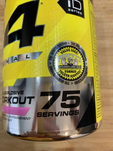 C4 The Original Explosive Pre Workout 75 Servings Pink lemonade 1