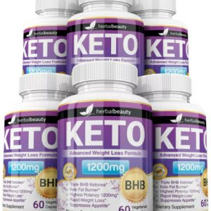 6 x Herbal Beauty KETO BHB 1200mg PURE Ketone FAT BURNER Weight Loss Diet Pills 1