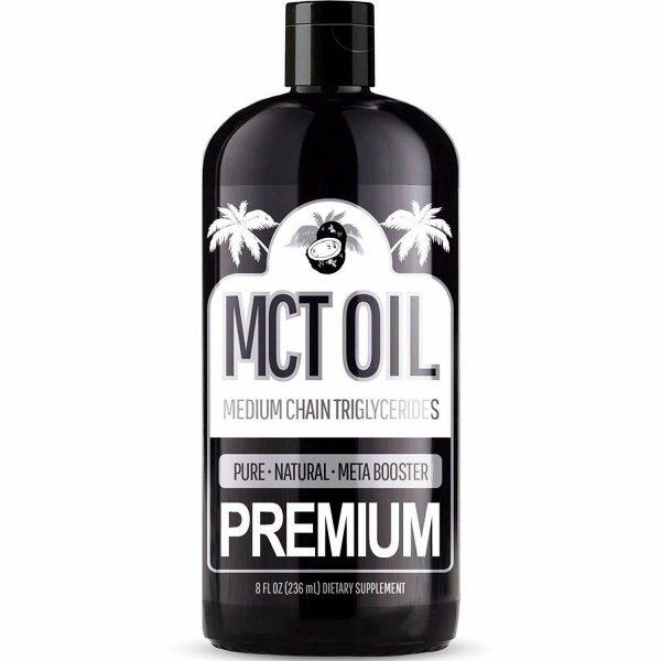 100% PURE MCT Oil (Raise Ketones C8 & C10 MCTs) Keto & Paleo Weight Loss - 8oz