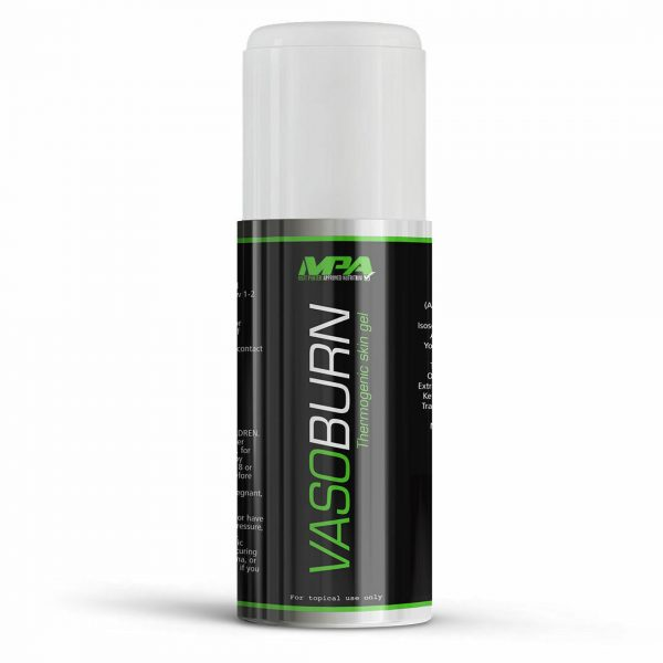 MPA VASOBURN 3.38 oz Thermogenic Topical Skin Gel Fat Burner  3.38 oz Pump  2