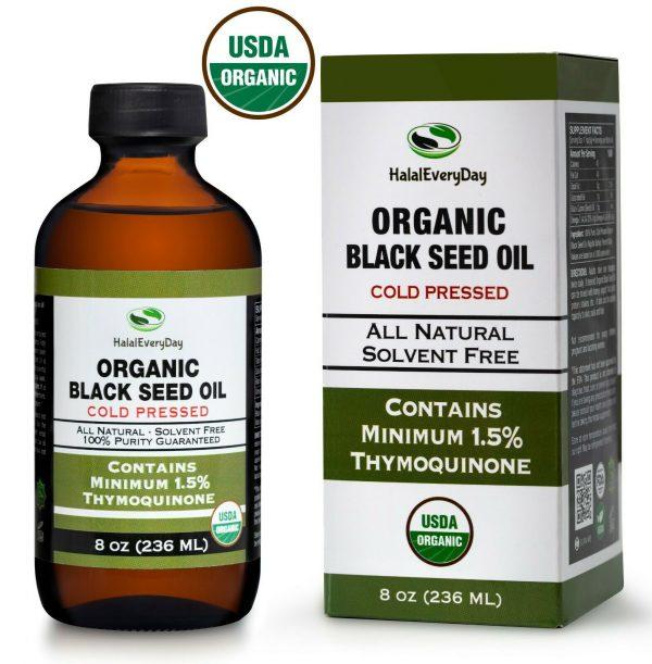 Black Seed Oil - 100% Pure Organic COLD PRESSED Cumin Nigella Sativa Unrefined 10