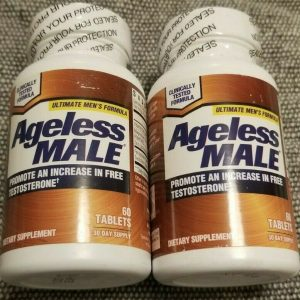 2 Pack - New Vitality Ageless Male Testosterone Booster - 120 Tablets Exp: 2022+
