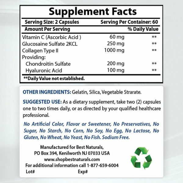 Best Naturals Hyaluronic acid 100 mg 120 Capsules - Youthful Skin & Joint Health 1