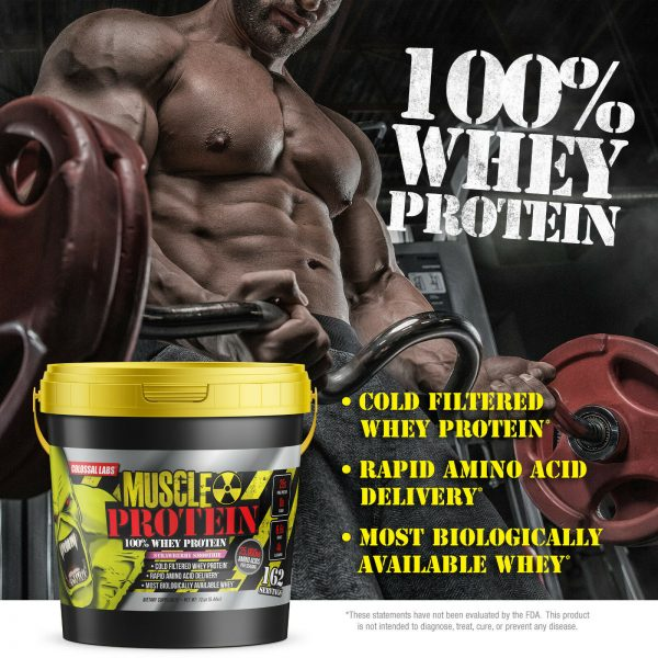 Colossal labs Whey Muscle Protein powder 12LB Isolate/Blend BULK 162 Servings 6