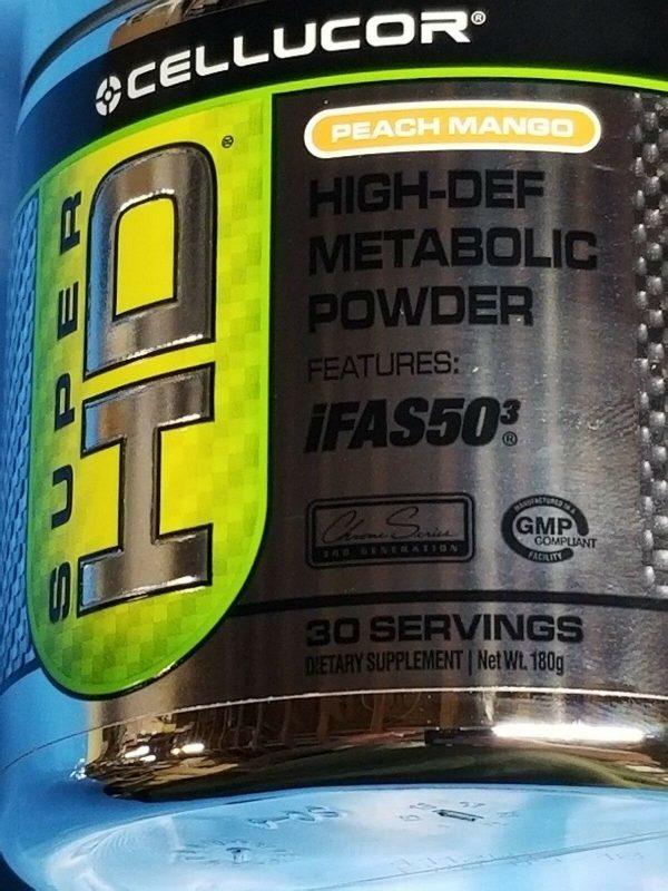 Cellucor Super HD G3 High-Def Metabolic Peach Mango 30 serv Diet Past Date Deal  2