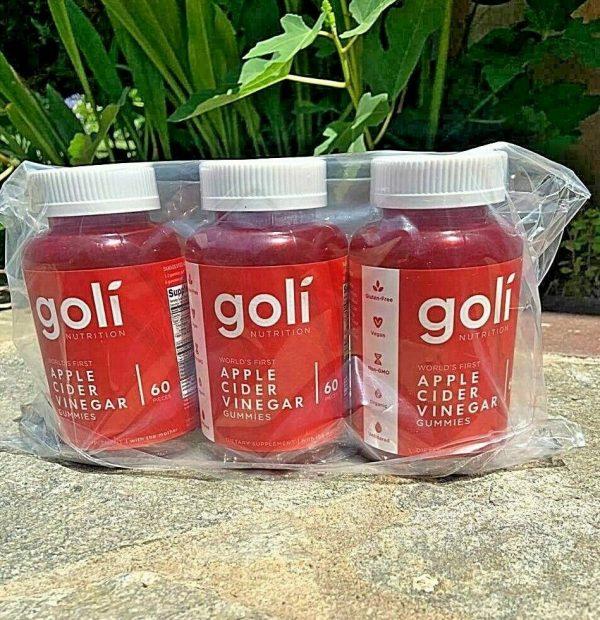 Goli Apple Cider Vinegar Gummies NEW 3 PACK  - FREE SHIP- EXP 2022