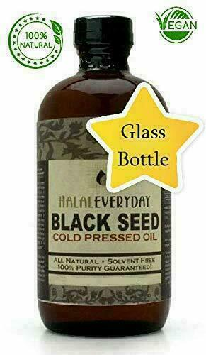 Black Seed Oil - 100% Pure Organic COLD PRESSED Cumin Nigella Sativa Unrefined 8
