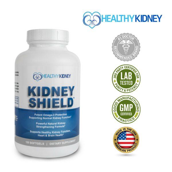 Kidney Shield Supplement Health Renal Detoxing Function Cleansing Omega 3