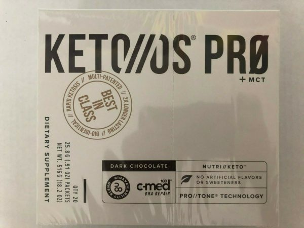 Pruvit Keto OS Pro+MCT Dark Chocolate 20 Packs Sealed FREE Shipping