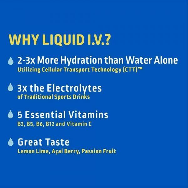 Liquid Iv, Lemon Lime Hydration Pouch, 0.56 Ounce (Pack of 16), Expiration 12/22 4
