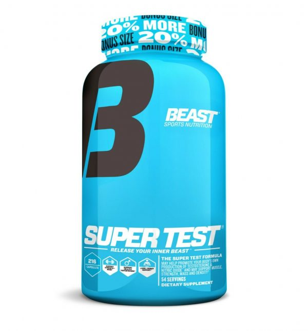 Beast Sports Super Test 216 ct: The Ultimate Testosterone Booster: Best by 4/21