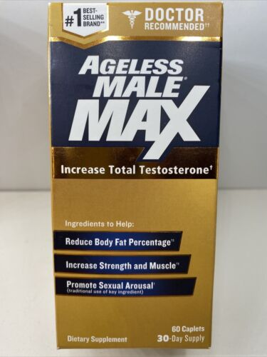 AGELESS MALE MAX, 60 CAPLETS, 30 DAY SUPPLY, 05/2023