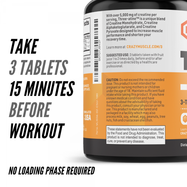 Crazy Muscle® Creatine Monohydrate Pills: [PROVEN] Muscle Building Supplement ✅✅ 3