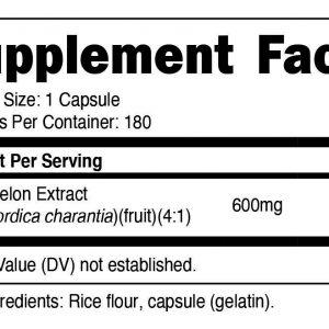 Nutricost Bitter Melon 600mg, 180 Capsules - Gluten Free, Non-GMO 1