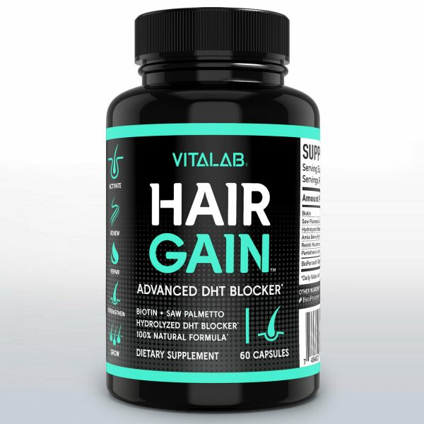 Hair Gain Biotin Hydrolyzed DHT Blocker Hair Growth Vitamins 10000mcg Women Men 1