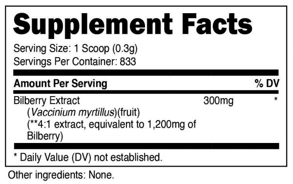 Nutricost Bilberry Powder 250 Grams - Gluten Free and Non-GMO  1