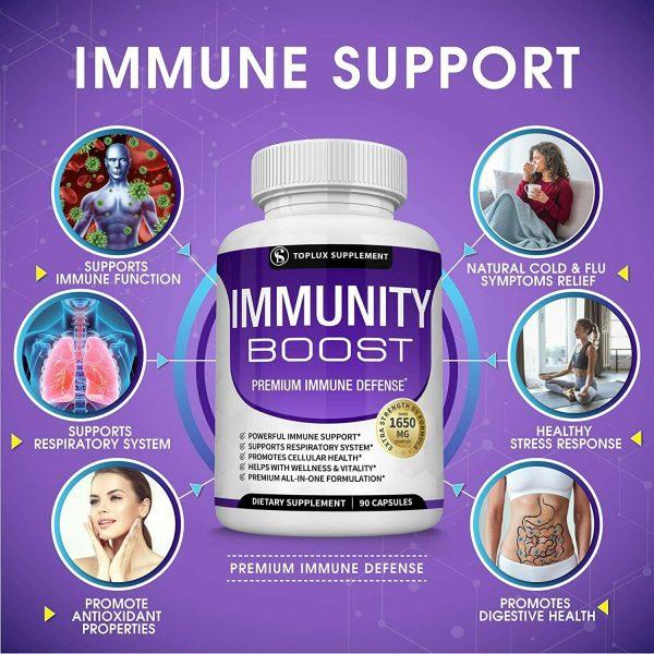 PREMIUM Immune System Booster (180 CAPSULE) Vitamin C +Zinc+Elderberry+Echinacea 3
