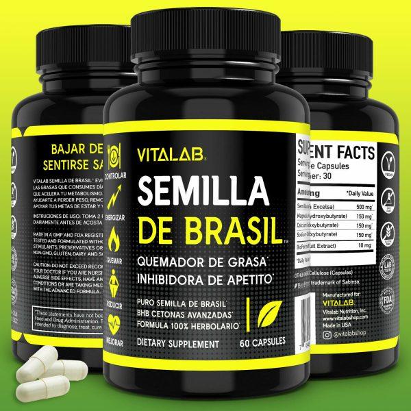 Semilla De Brasil Original Pastillas Para Bajar De Peso Semilla De Brazil 60ct
