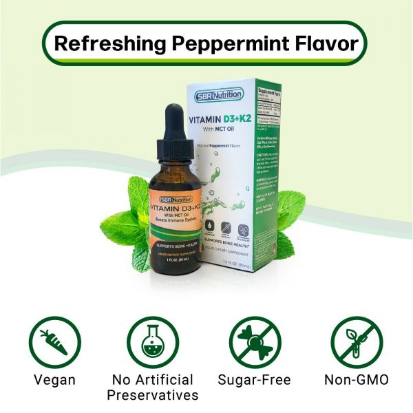 MAX ABSORPTION Vitamin D3 + K2 (MK-7) Liquid Drops, MCT Oil, 1000 svgs, 1 fl oz 3