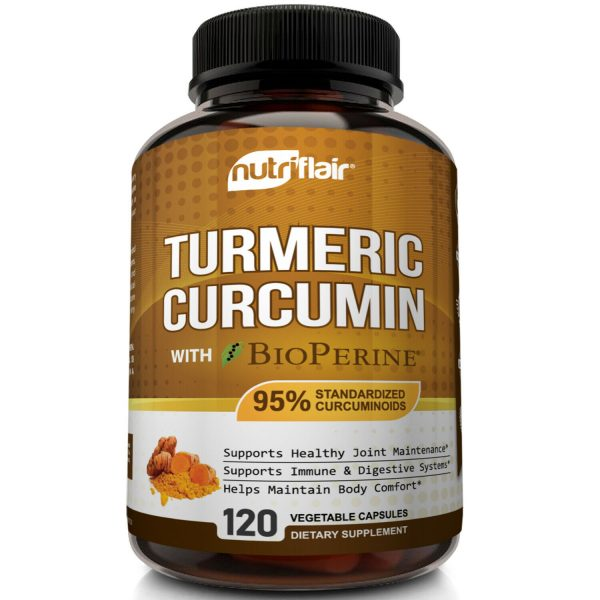 ☀ Turmeric Curcumin with BioPerine Black Pepper 95% Curcuminoids 1300mg 120 caps 2