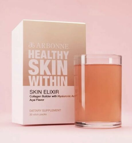 30 STICKS!Arbonne Healthy Skin Elixir Collagen Builder Hyaluronic Acid Exp/01/22