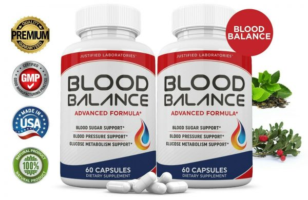 Blood Balance Advanced Formula Cholesterol Blood Sugar Pressure Support 2 Pack