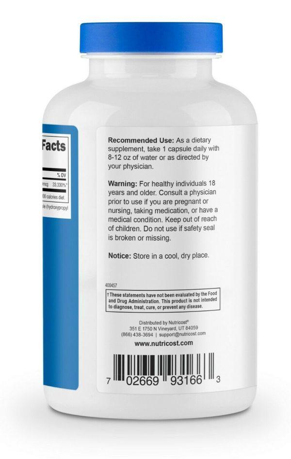 Nutricost Biotin (Vitamin B7) 10,000mcg (10mg), 240 Capsules 3