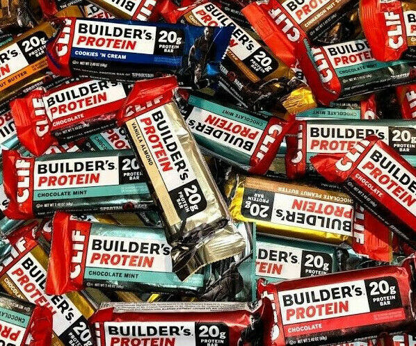 48 Assorted Flavors - CLIF BUILDER's - 20g PROTEIN BARS - 2.4oz  2