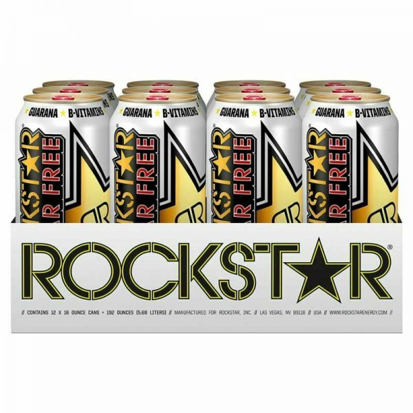 Rockstar Energy Drink, Sugar Free Original Formula 16oz Cans 12 Pack O.G. Flavor