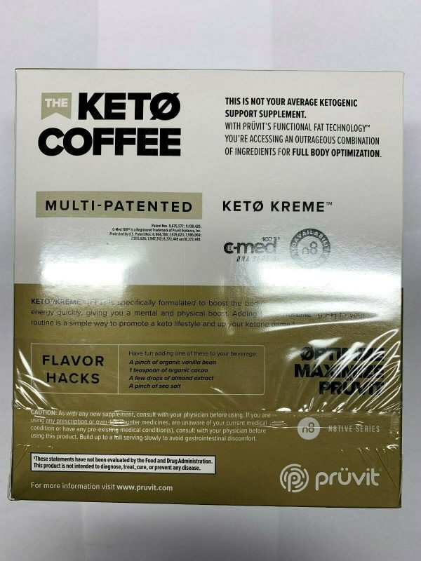 Pruvit Keto Kreme -With Functional Fat Technology (FTT) 20 Packets,BRAND NEW!! 3