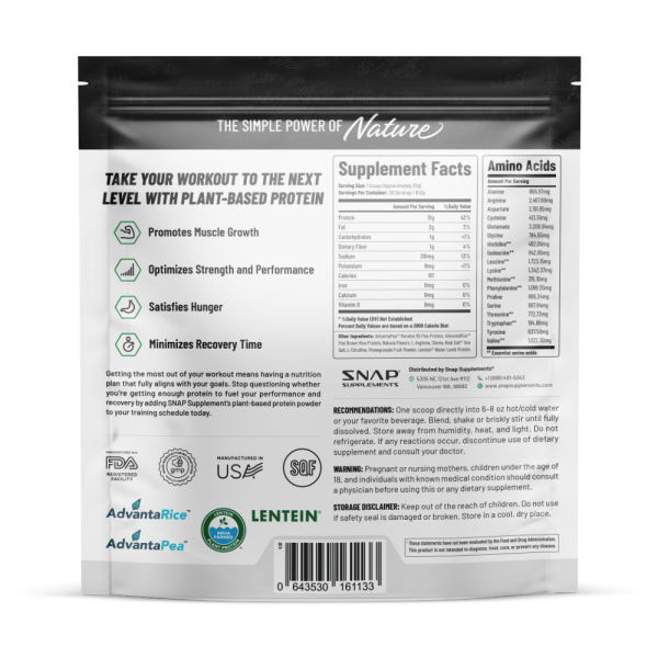 Organic Plant Protein Powder, Muscle Builder & Recovery Vegan Banana 30 Servings 1