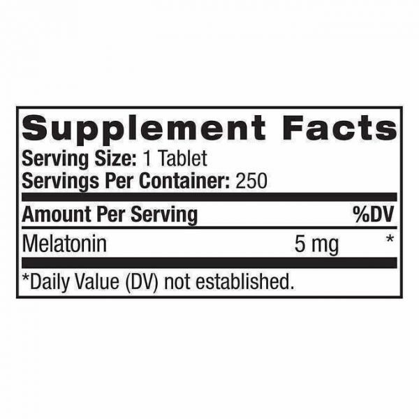 Natrol Melatonin 5mg Fast Dissolve Tablet for Sleeplessness - 250 Strawberry Tab 1
