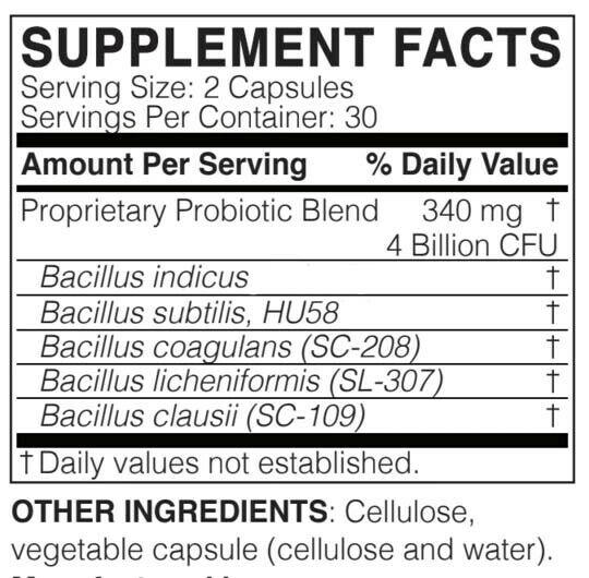 BULKPROBIOTICS MegaSporeBiotic Probiotic 60 capsules VEGAN 1