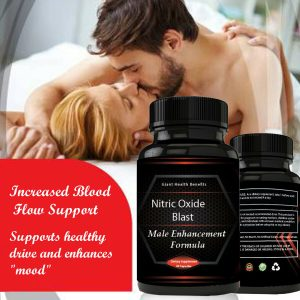 Nitric Oxide Booster Enhancement Capsules L-Arginine Supplement Muscle Growth