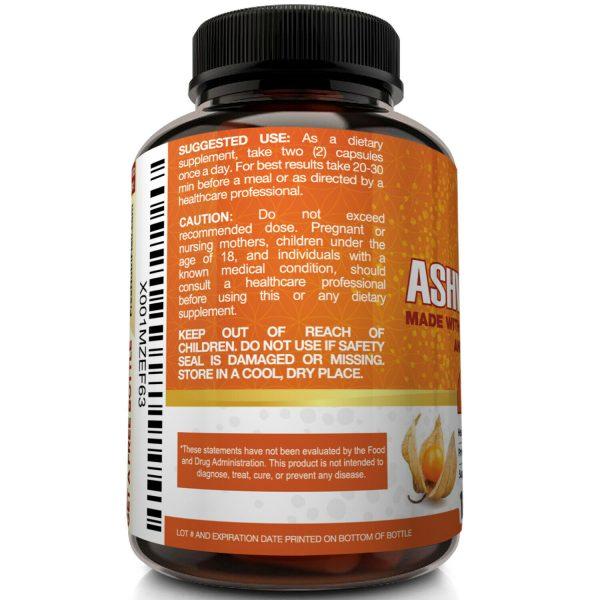 ☀ Organic Ashwagandha Capsules 1600mg 120 Capsules with Black Pepper Root Powder 5