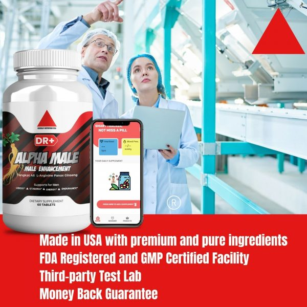 Alpha Male Testosterone Booster L Arginine, Maca, Ginseng Extract for Men 7