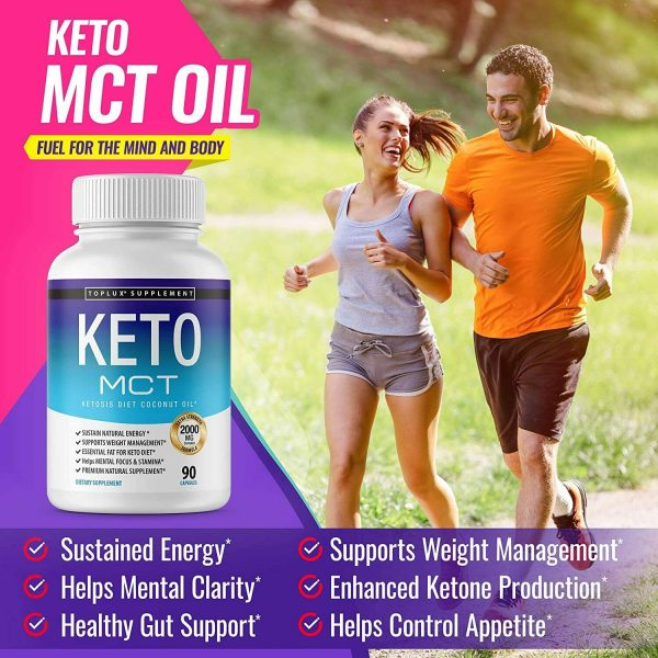 Keto MCT Diet Pills 2000 MG (180 CAPSULES) Weight Loss Fat Burner Supplement  3