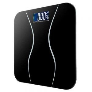 400lb LCD Digital Bathroom Body Weight Scale Tempered Glass Auto Switch 180kg 1