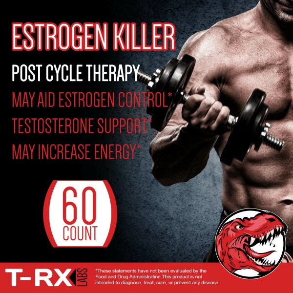 T-RX Labs Estrogen Blocker PCT Post Cycle Therapy Testosterone Booster 1