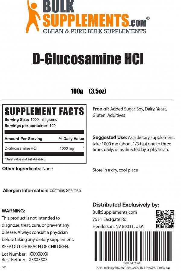BulkSupplements.com D-Glucosamine HCl 1