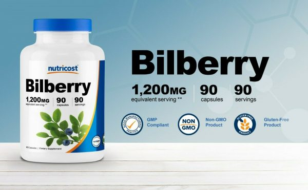 Nutricost Bilberry Capsules 1200mg (90 Vegetarian Capsules) 3
