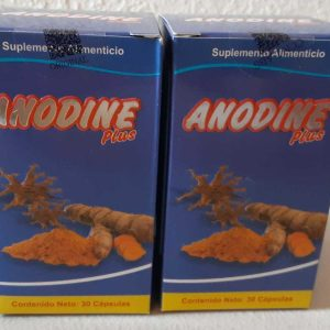 2 PACK ANODINE Plus 60 Pills Total- Colageno-Cicutilla-Curcuma-Glucosamina 1