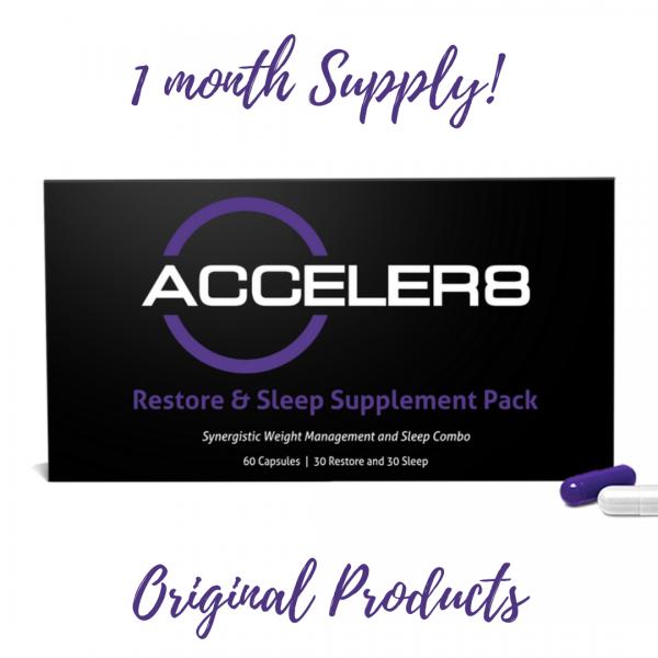 Acceler8 (purple&white) original B Epic BEpic & FREE NUTRINRG SAMPLE