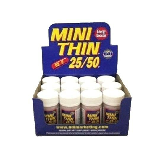 4 x 30ct BOTTLES MINI THIN 25/50 EF ENERGY BOOSTER ( 120 ) PILLS 2