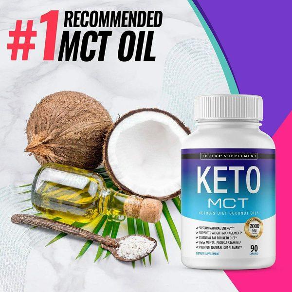 Keto MCT Diet Pills 2000 MG (180 CAPSULES) Weight Loss Fat Burner Supplement  6