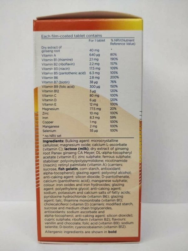 Pharmaton Capsules 100Capsules (containing Unique Ginseng G115) - FREE SHIPPING 3