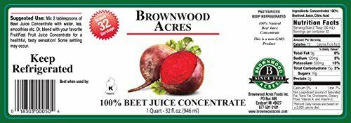 """Beet Juice Concentrate """"Cold Filled"""" ONE QUART 32 Day Supply 2"""