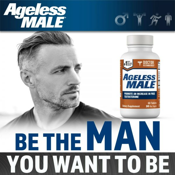 Ageless Male Free Testosterone Booster by New Vitality - NEW - 60 Tablets 5
